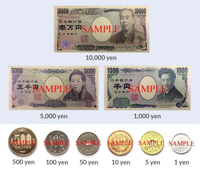 What is currency of japan